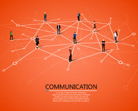 Connecting people. Social network concept. Stock Photos