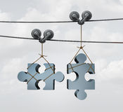 Connecting Puzzle Pieces Stock Photos