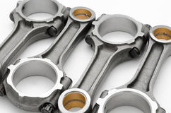 Connecting rods - auto spare parts Stock Images