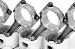Connecting rods and pistons Stock Image