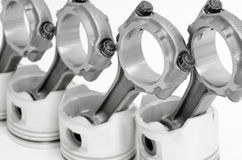 Connecting rods and pistons Royalty Free Stock Photos
