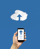 Connecting a smartphone to the cloud Royalty Free Stock Image