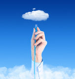 Connecting To Cloud Concept Stock Image