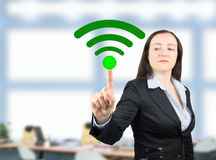 Connecting the wifi on whiteboardconnecting the wifi on whiteboa Royalty Free Stock Images