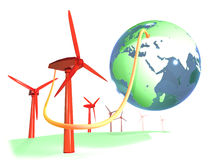 Connecting the world into renewable energy Royalty Free Stock Photos