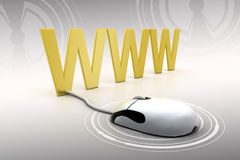 Connecting World Wide Web In Silver Background  Stock Photo