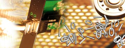 Connection 3/3. Montage representing connection brown colour. I am copyright owner of all elements used in the montage Stock Illustration