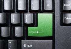 Connection. Connect special key on a keyboard Royalty Free Stock Image