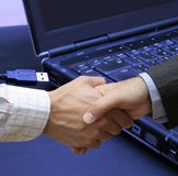 Connection agreement Royalty Free Stock Images