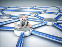 Connection baby Royalty Free Stock Image