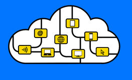 Connection in the cloud Royalty Free Stock Photos