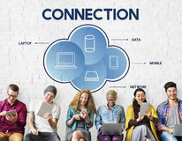 Connection Cloud Network Communication Concept Royalty Free Stock Photo