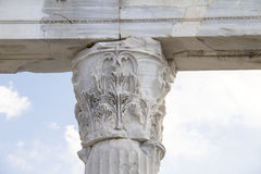 Connection on a column Stock Photography