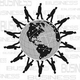 World business poster Stock Images