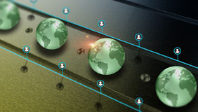 Connection and communication, global data sharing Stock Image