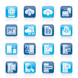 Connection, communication and mobile phone icons. Vector icon set Stock Photo