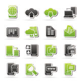 Connection, communication and mobile phone icons. Vector icon set Royalty Free Stock Photos
