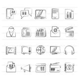 Connection, communication and technology icons. Vector icon set Royalty Free Stock Photo