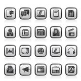 Connection, communication and technology icons Stock Photos