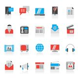 Connection, communication and technology icons. Icon set Royalty Free Stock Photos