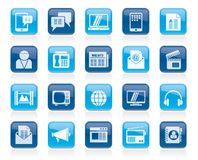 Connection, communication and technology icons. Vector icon set Stock Image