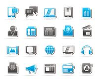 Connection, communication and technology icons. Vector icon set Royalty Free Stock Image