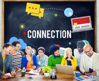 Connection Community Teamwork Technology Concept Royalty Free Stock Photos