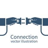 Connection concept, icon Stock Photos