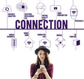 Connection Connected Drones Technology Concept royalty free stock photos