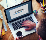 Connection Data Streaming Download Archiving Concept Royalty Free Stock Image