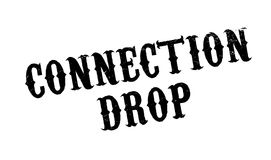 Connection Drop rubber stamp Royalty Free Stock Image