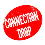 Connection Drop rubber stamp Stock Images