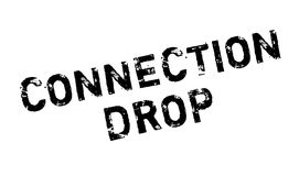 Connection Drop rubber stamp Royalty Free Stock Photography