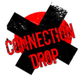 Connection Drop rubber stamp Stock Photography