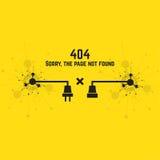 404 connection error. Stock Photos