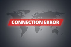 Connection Error Message on Screen Royalty Free Stock Photo