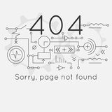 Connection error. Page not found Error 404, connection error. Abstract technological scheme. Vector illustration Stock Image