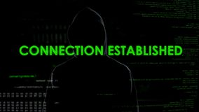 Connection established, anonymous cyberattack threatens national security. Stock photo royalty free stock photos