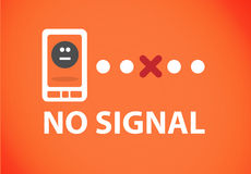 Phone no signal. No coverage iphone Problem sign in modern cell phone. Vector file available on request Stock Photos