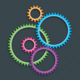 Connection Gears icon. Stock Photography