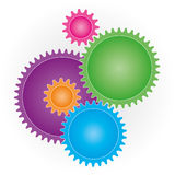 Connection Gears icon. Royalty Free Stock Photo