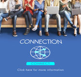 Connection Globalization Technology Internet Concept Royalty Free Stock Photography