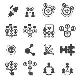 Connection icon set Stock Image