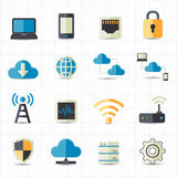 Connection icons. This image is a vector illustration Royalty Free Stock Images
