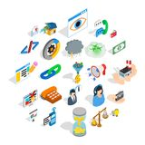 Connection icons set, isometric style. Connection icons set. Isometric set of 25 connection vector icons for web isolated on white background Stock Photo