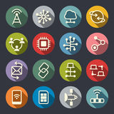Connection icons stock illustration