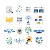 Connection and Internet icons Royalty Free Stock Photography