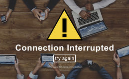 Connection Interrupted Disconnected Notice Concept royalty free stock photo