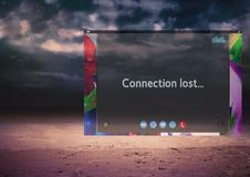Connection lost on Social Video Chat App Interface. Digital composite of Connection lost on Social Video Chat App Interface Stock Photography