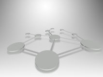 Connection network. Business network or connection concept Stock Photography